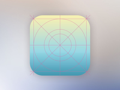 ios 7 Icon MockUp PSD - Icon Grid Template