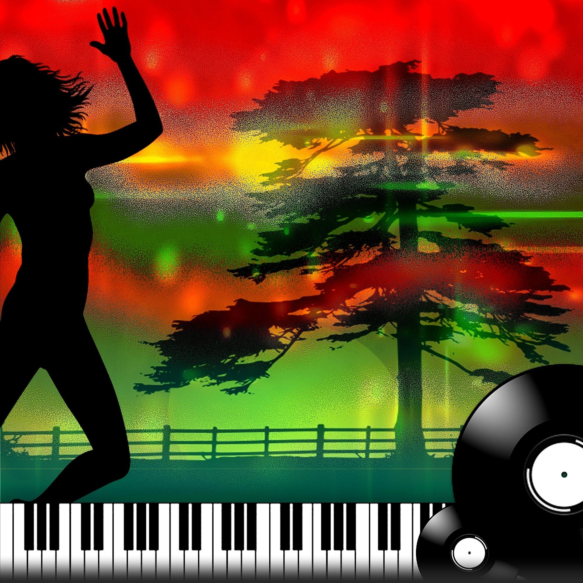 music dance-girl silhouette