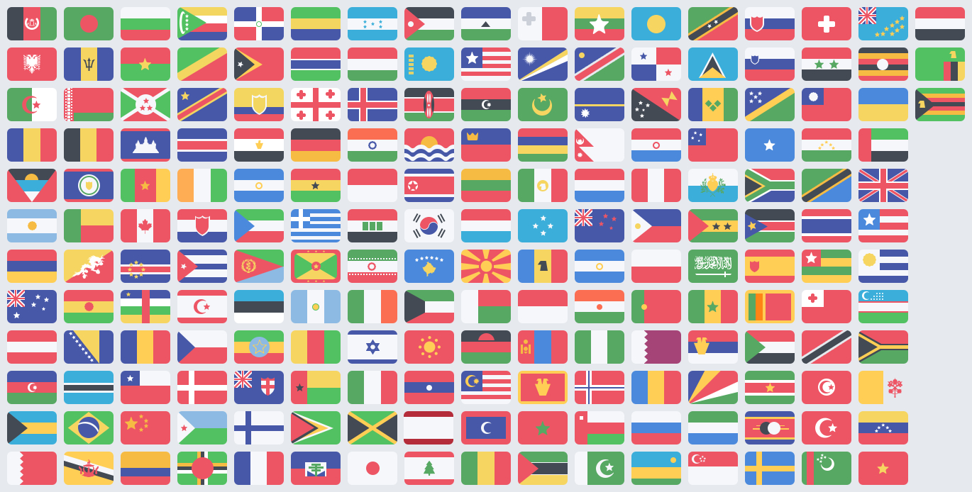 Free Flat Countries Flags PSD