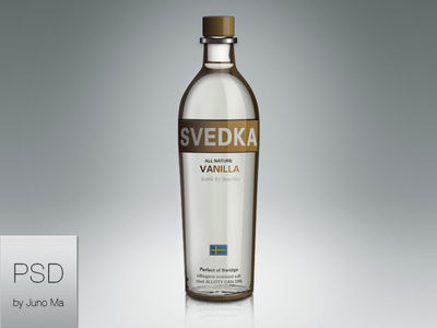 Free Glass Bottle PSD