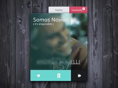 Free Music Player Widget PSD