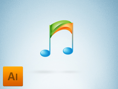 Free Music player icon logo Vector