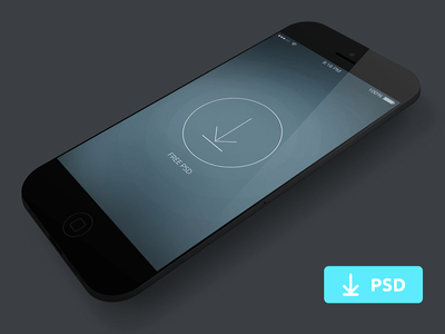 Free PSD Template-iphone Concept Design