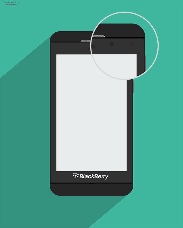 Free PSD-mockup of Blackberry Z10