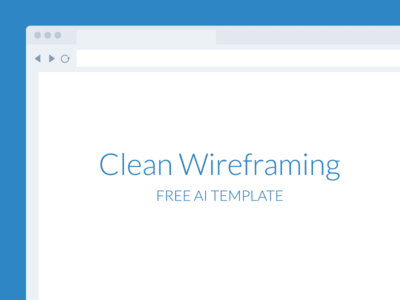 Free Template-Wireframe Tool For Illustrator