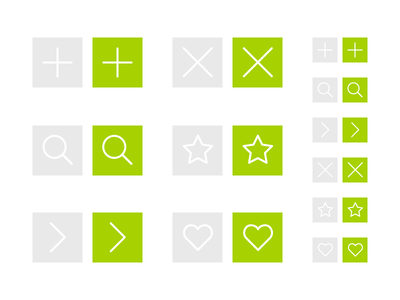 Free UI Buttons Vector Icon For Web Design