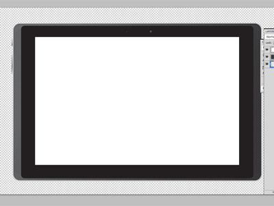 Free Vector- Android Tablet Frame PSD