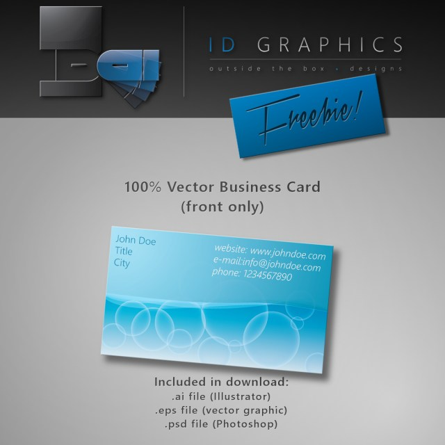 Free Vector-Business Card Template PSD