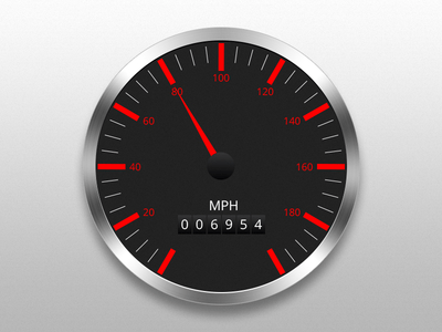 Freebie- Vehicle Speedometer Vector