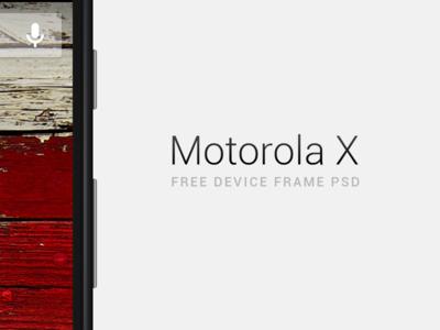 Motorola X-Free Device Frame PSD