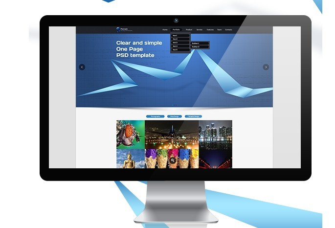 One Page PSD Template Free Download