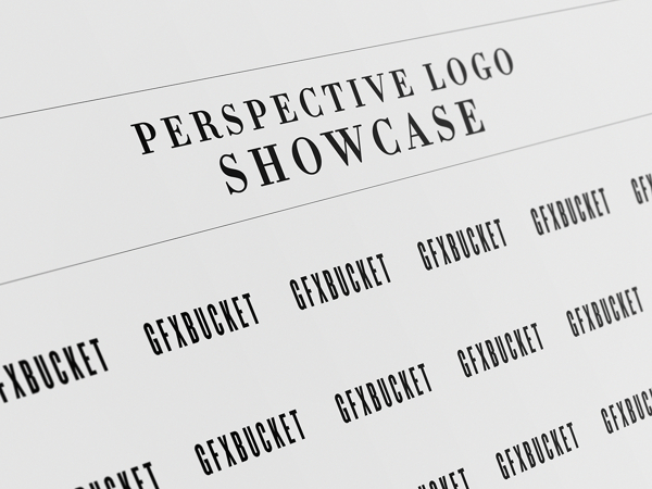 Perspective Logo Showcase Mock-up Template PSD
