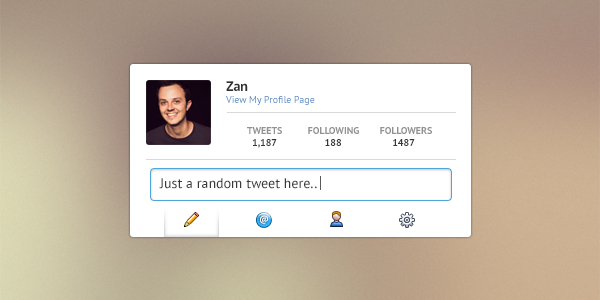 Twitter Profile PSD Template