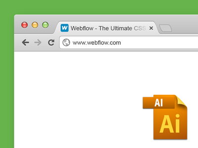 Vector Chrome Browser Window