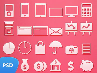 49 Flat Icon Set PSD