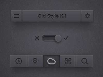 Dark UI Kit PSD