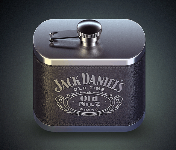 Flask PSD- iOS icon Concept