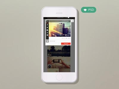 Flat Mockup PSD-Iphone 5 Template