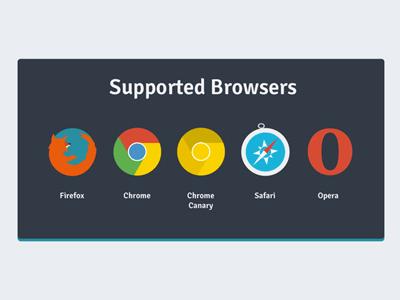 Flat Web Browser Icon-Firefox -Chrome -Safari -Opera