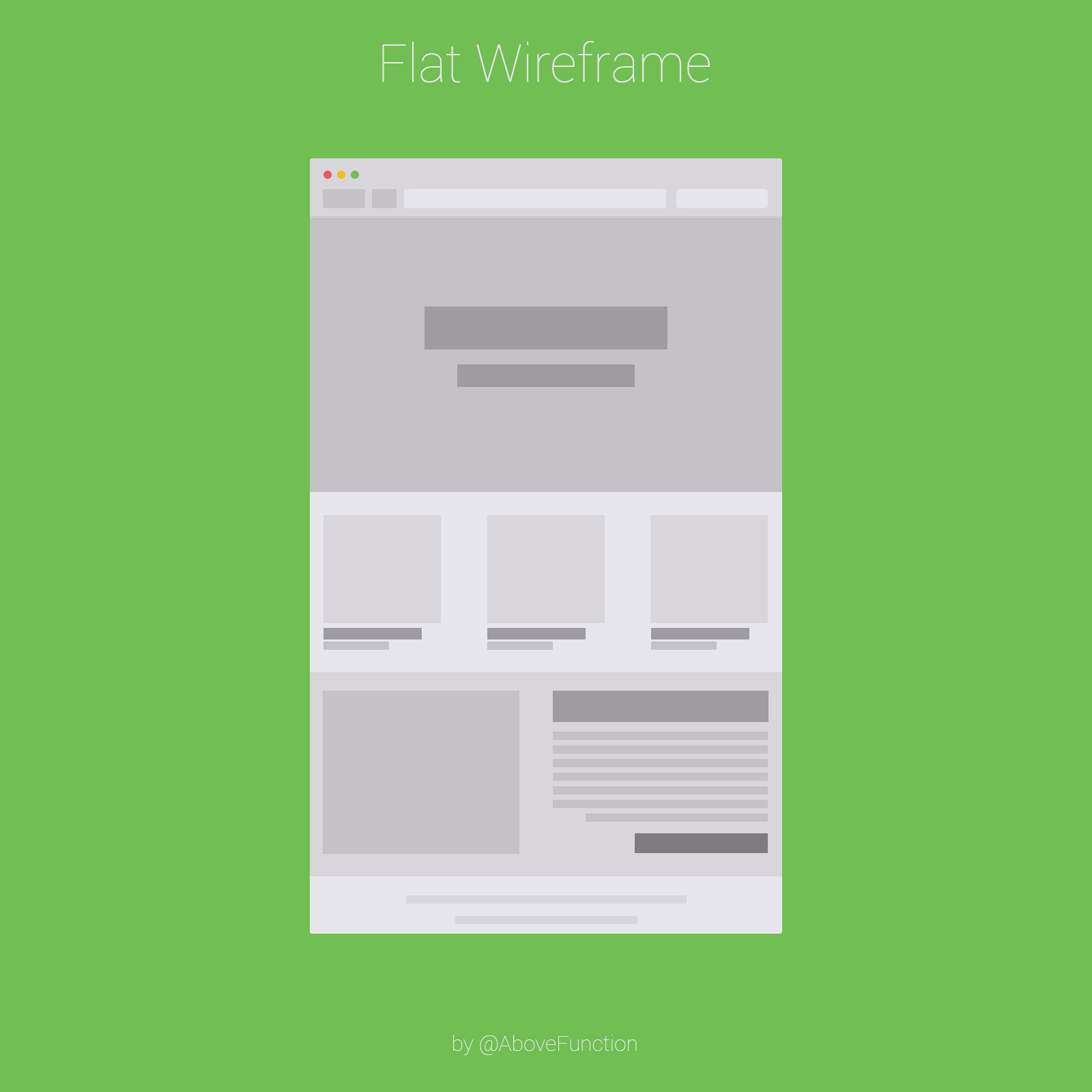 Flat Wireframe Browser Template