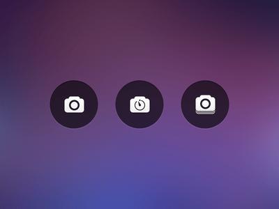 Free Camera Button icon PSD
