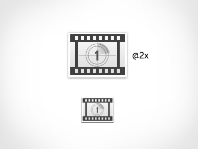 Free Film Icon PSD