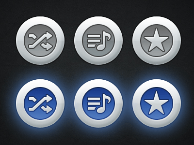 Free Music Icons PSD