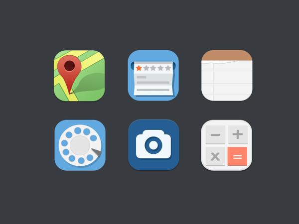 Freebie-Premium Flat icons PSD