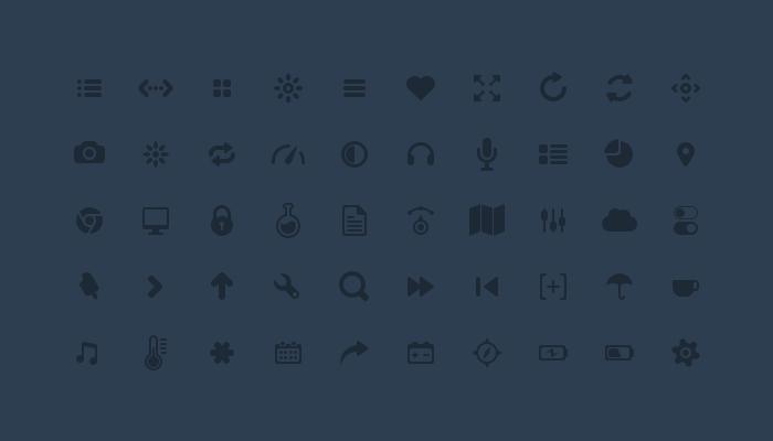 Glyphs icon Set PSD