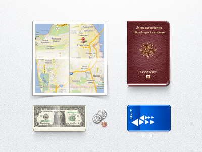 Immigrant Toolk - Coin Money Passport Map