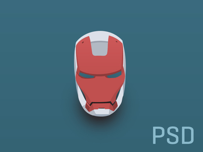 Iron Man Helmet PSD