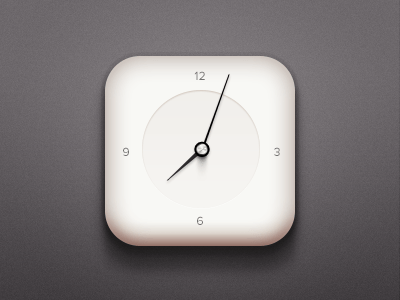 PSD Clock Icon With Needles