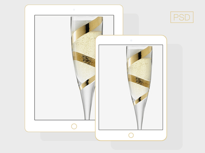 PSD-Flat iPad Champagne color