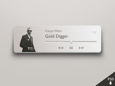 PSD-Mini Music Player Design Photoshop