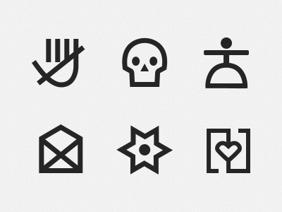 PSD Pictograms icons signs symbols