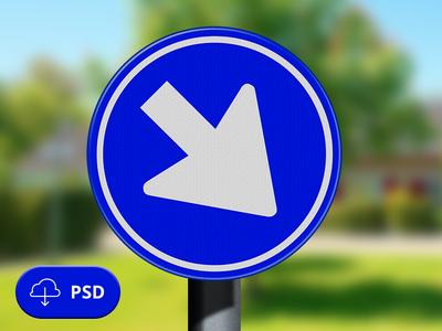 PSD-Traffic sign (verkeersbord)