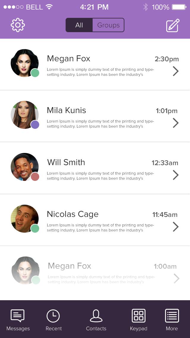PSD-iOS 7 Viber