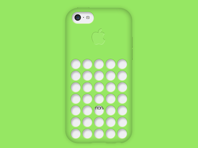 PSD-iPhone 5C Green Case