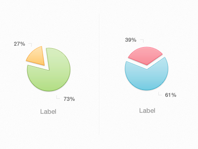 Photoshop Pie Graph Charts PSD