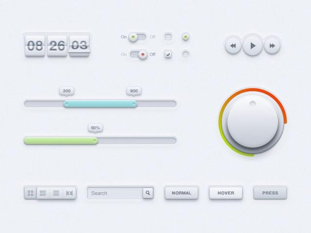 Premium UI Kit PSD