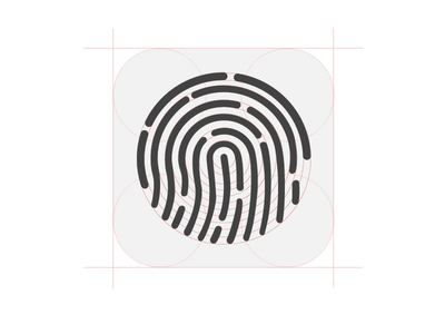 Touch ID icon PSD