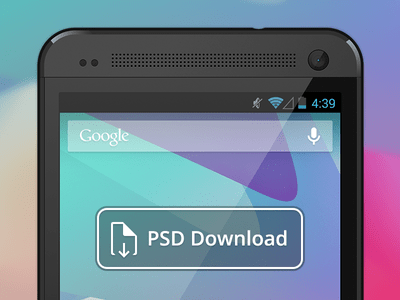 Vector Android HTC One PSD Mockup