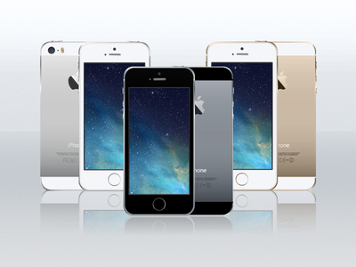 Vector Mockup-iPhone 5s Template