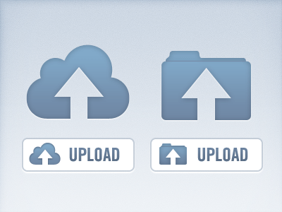 Vector Upload Icon PSD (Cloud & Folder)