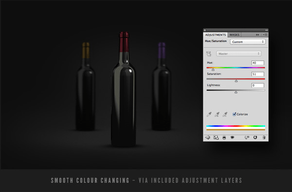 Wine Bottles Mockup Template PSD-3