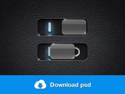 iOS iPhone Toggle Switch PSD