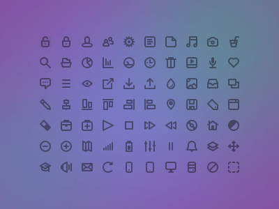 Cool Flat icons PSD (70 icons)