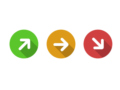 Flat Metro UI Arrow Icon PSD