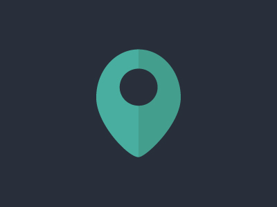 Flat Pin Map Icon illustration PSD