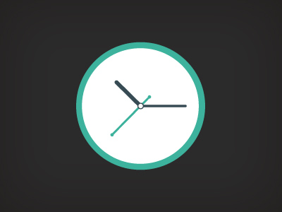 Free Clock Flat Icon PSD